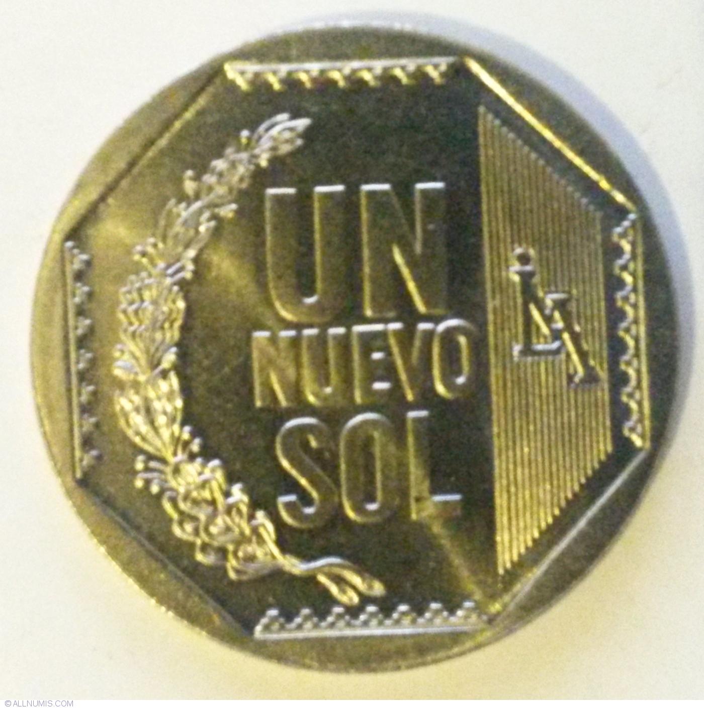 PERU COIN SET 1+5+10+20+50 Centesimo 1 Nuevo Sol 2007-2008 UNC LOT of 6 COINS