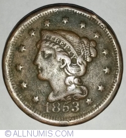 Image #1 of Braided Hair Cent 1853