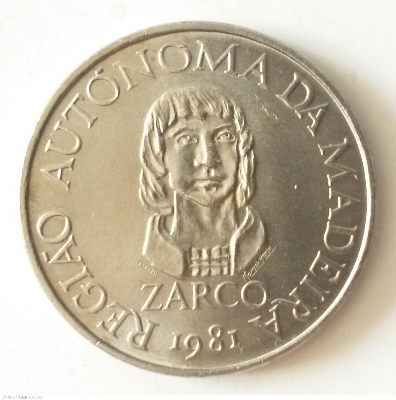 1981 UNC PORTUGAL COIN MADEIRA REGIONAL AUTONOMY 25 $ ESCUDOS