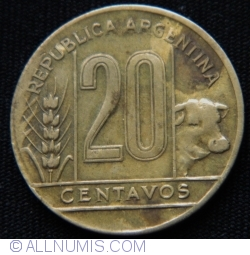 Image #1 of 20 Centavos 1950