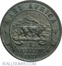Image #2 of 1 Shilling 1921 H