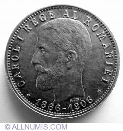[VARIANTA] 1 Leu 1906 - Cu punct in A Michaux