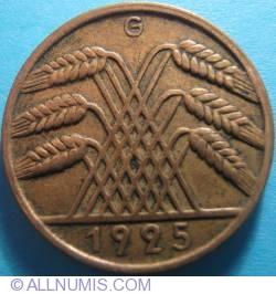 Image #2 of 10 Reichspfennig 1925 G