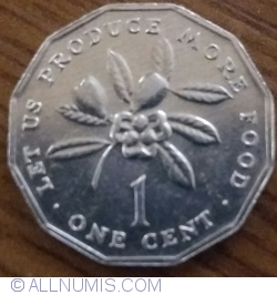 Image #1 of 1 Cent 1986 FAO