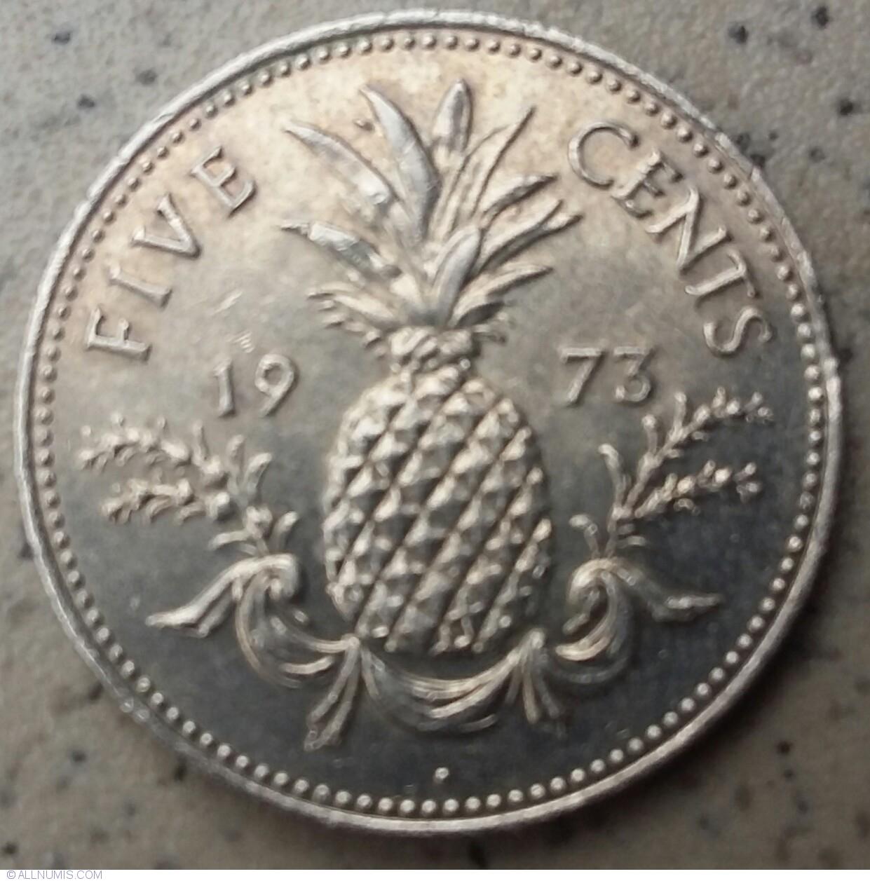 Bahamas 5 Cents 1973 Proof #p29 483alb29 Coins: World