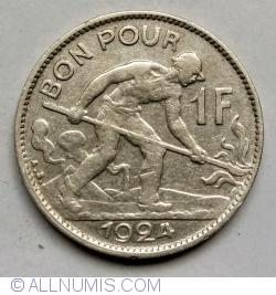 Imaginea #1 a 1 Franc 1924