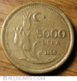5000 Lira 1998