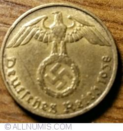 Image #2 of 5 Reichspfennig 1938 J