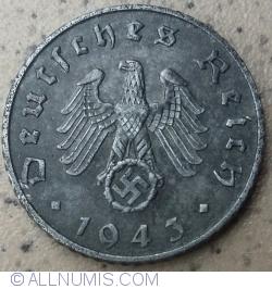 Image #2 of 5 Reichspfennig 1943 F