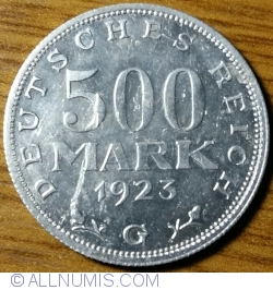 Image #1 of 500 Mark 1923 G