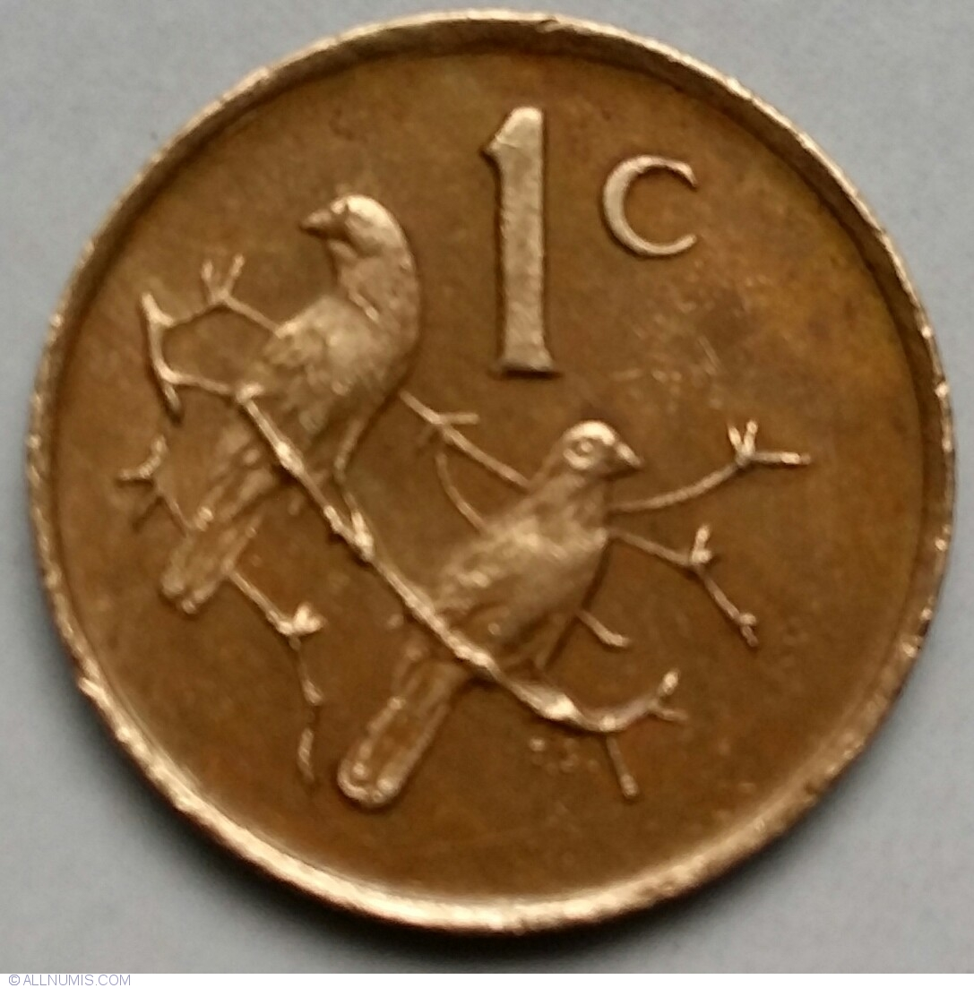 1 Cent 1986 Republic 1981 1990 South Africa Coin 40483