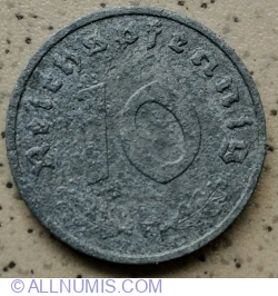 10 Reichspfennig 1944 F