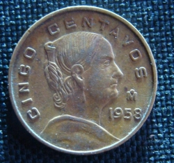 Image #1 of 5 Centavos  1958