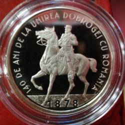 Image #2 of 50 bani 2018 - 140 years since the union of Dobruja with Romania