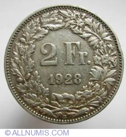 Image #1 of 2 Francs 1928