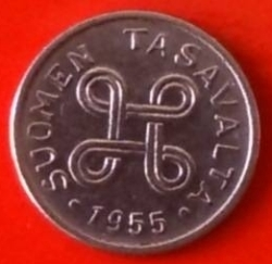 Image #2 of 1 Markka 1955