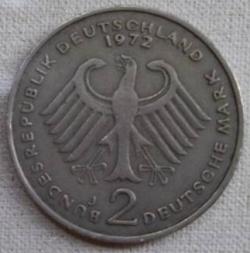 Image #1 of 2 Mark 1972 J - Theodor Heuss