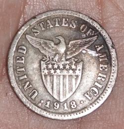 Imaginea #2 a 10 Centavos 1918