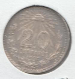 Imaginea #2 a 20 Centavos 1906