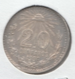 Image #2 of 20 Centavos 1906