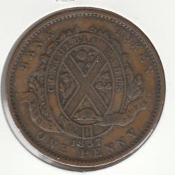 Image #2 of 1 Penny 1837 - Bank Token - Banque du Peuple