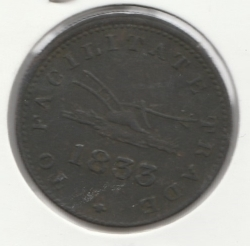 Image #2 of Half Penny 1833 - Sloop Token