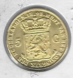 Image #2 of 5 Gulden 1843 (Jeweller's copy)