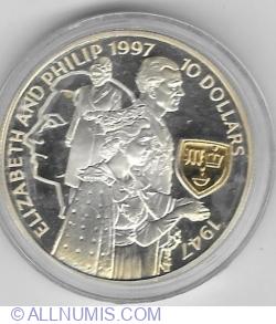 Imaginea #2 a 10 Dollars 1997 - Golden Wedding Anniversary