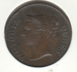 Image #1 of 1/4 Cent 1845