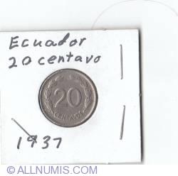 Imaginea #2 a 20 Centavos 1937