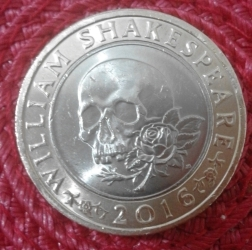 Image #2 of 2 Pounds 2016 - William Shakespeare