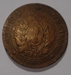 Image #2 of 2 Centavos 1889