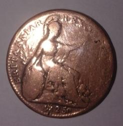 Image #2 of Farthing 1825