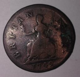 Image #1 of Farthing 1749