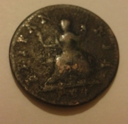 Image #2 of Farthing 1754