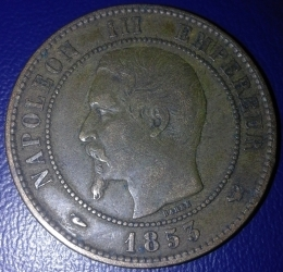 Image #1 of 10 Centimes 1853 W