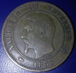 Imaginea #1 a 10 Centimes 1853 W
