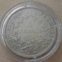 Image #2 of 5 Francs  1876 A