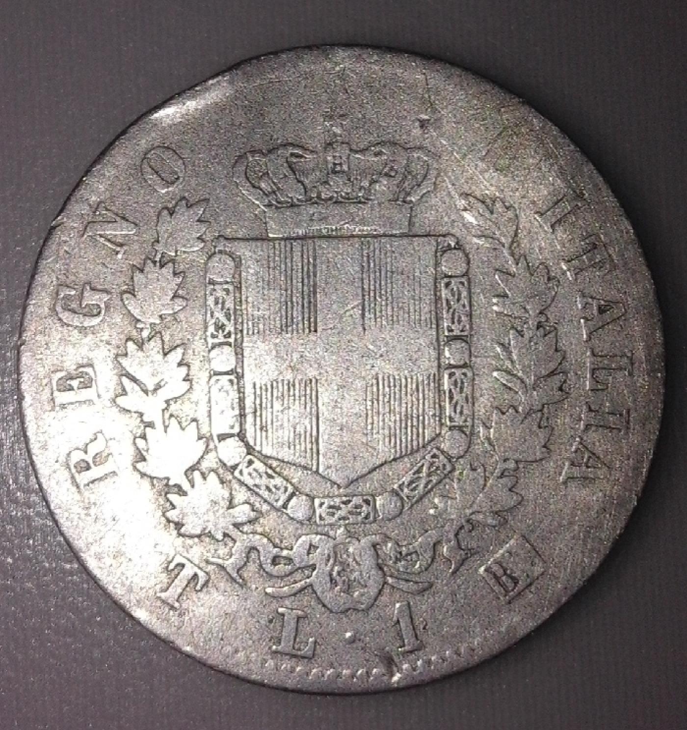 1 lira 1863 t torino vittorio emanuele ii 1861 1878 for Coin torino