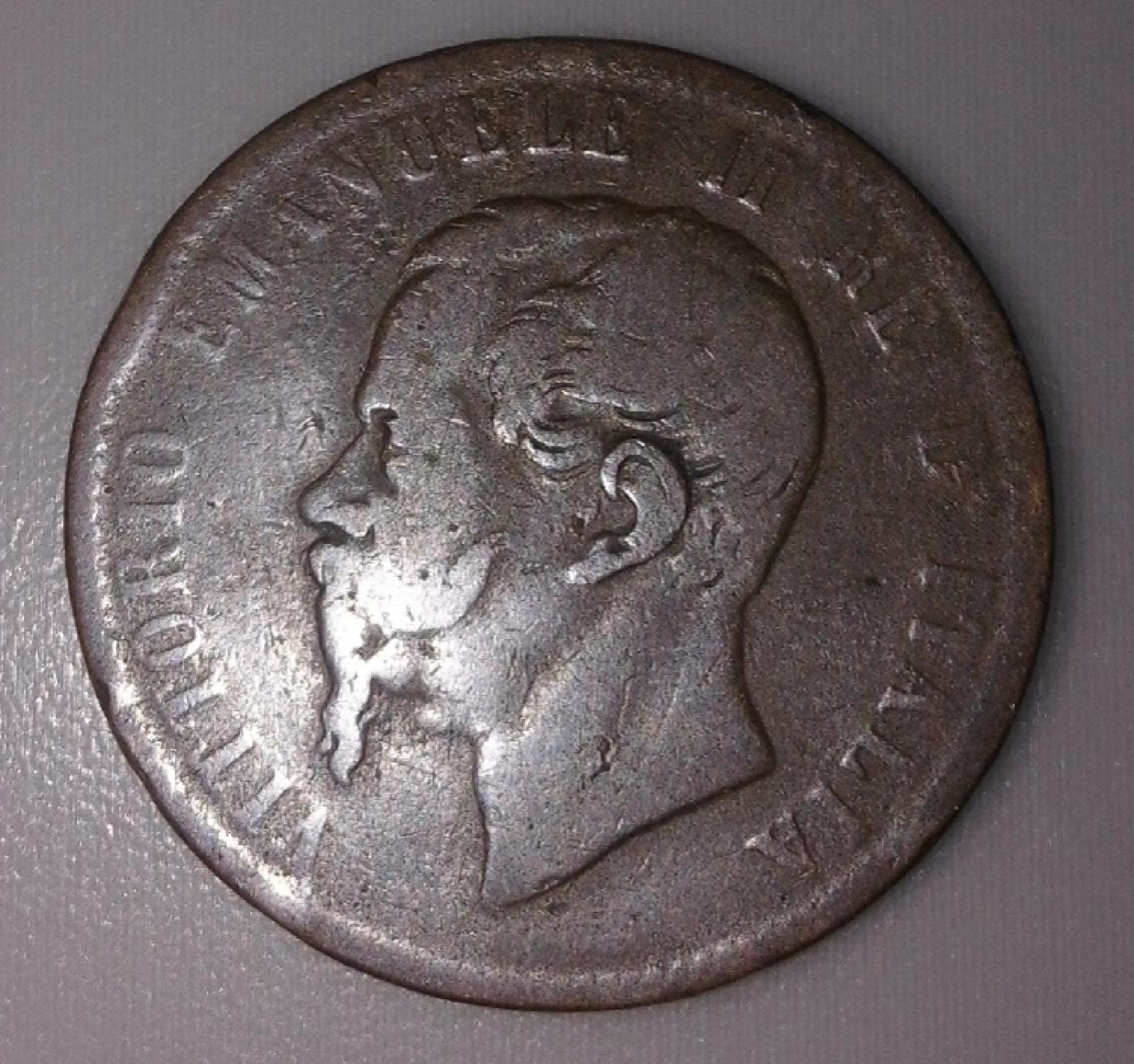 10 centesimi 1867 t vittorio emanuele ii 1861 1878 for Coin torino
