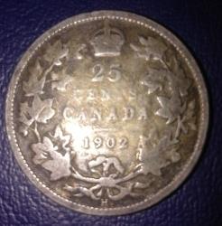 Imaginea #2 a 25 Cents 1902 (H)