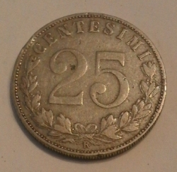 Image #1 of 25 centesimi 1902 R