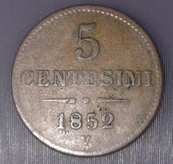 Imaginea #1 a 5 Centesimi 1852 V