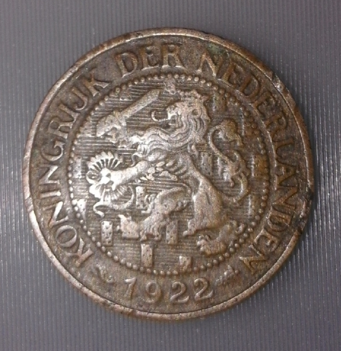 1 Cent 1922 Wilhelmina I 1911 1930 Netherlands Coin 37805