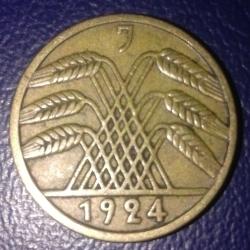 Image #2 of 5 Reichspfennig 1924 J