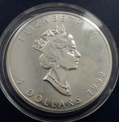 Image #1 of 5 Dollars 1992 - Maple Leaf
