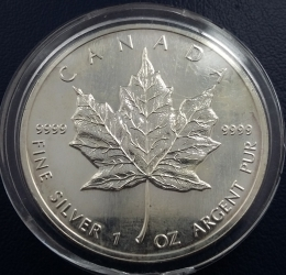 Image #2 of 5 Dollars 1992 - Maple Leaf