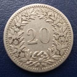 Imaginea #2 a 20 Rappen 1887