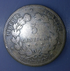 Image #2 of 5 Centimes 1877 A