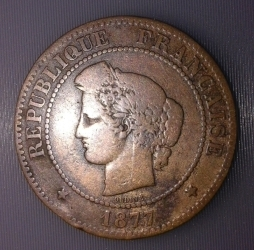 Image #1 of 5 Centimes 1877 A